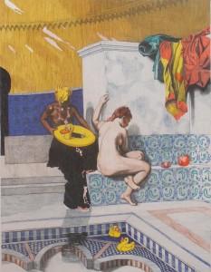 Moorish bath with ducks