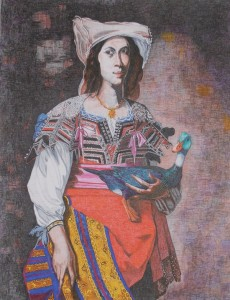 WOMAN WITH DUCK