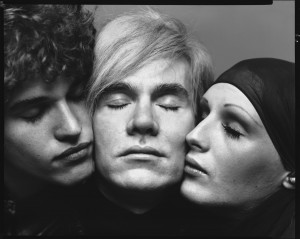 Avedon, Richard_Andy Warhol with Candy Darling and Jay Johnson_1969