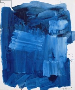 Blue Monolith, 1964 (oil on canvas)