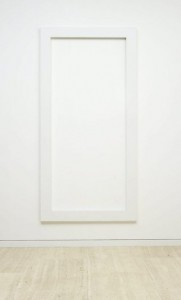 LEWITT, SOL_RECTANGLE (OPEN)_1977_PAINTED WOOD_ 236 X 117.5 X 4CM