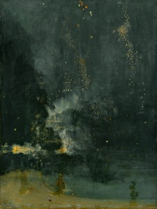 Whistler_nocturne in black and gold_falling rocket